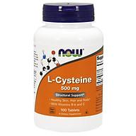 Now L-Cysteine 500mg + Vitamin B-6 & C Hỗ trợ Trị Mụn, Bổ sung dinh dưỡng cho Da, Móng, Tóc Chai 100 Viên thumbnail