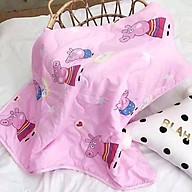 Mền cotton đũi mềm mịn cho bé - Họa tiết ngẫu nhiên thumbnail