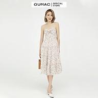 Đầm dáng xòe nữ thiết kế hai dây phối nơ ngực GUMAC DB542 thumbnail