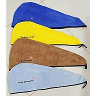Bộ 3 khăn ủ tóc quấn đầu nhanh khô, thêu chữ đẹp (Giao màu ngẫu nhiên, nhiều màu) thumbnail