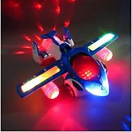 Đồ chơi máy bay, Máy bay biến hình xoay 360 độ phát nhạc phát đèn nhiều mặc sắc cho bé thumbnail