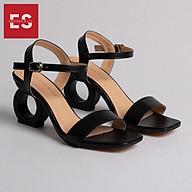 Gia y sandal cao go t Erosska thơ i trang hơ mu i phô i dây thiê t kê sang tro ng cao 7cm EB009 thumbnail