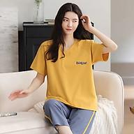 Đồ bộ lửng mặc nhà cotton mùa hè dành cho nữ Quãng Châu 2166 thumbnail