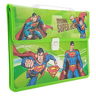 Combo Cặp Học Sinh 2 Ngăn Và Thước Nhựa - Hình Superhero thumbnail