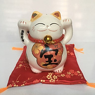 Chú mèo thần tài Maneki Neko bằng sứ cao cấp thumbnail