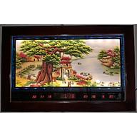 Tranh đá quý Cây Đa Cổng Làng, Lịch vạn niên đèn led- 2048 thumbnail