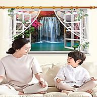 Decal dán tường phong cảnh cửa sổ thác nước sk9020e thumbnail