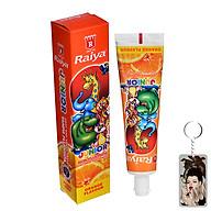 Kem đánh răng trẻ em hương cam Raiya 75g + Móc khóa thumbnail