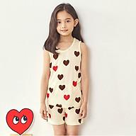 Đồ bộ sát nách cotton mặc nhà mùa hè cho bé gái Unifriend Uni0917 size 2-10 tuổi thumbnail