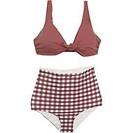Bộ đồ bơi đi tắm biển nữ BIKINI 2 mảnh áo quần caro cạp cao cực HOT thumbnail