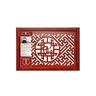 Tấm chống ám khói hương bàn thờ mẫu chữ phúc việt nâu đỏ - TL287 thumbnail