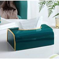 Hộp đựng giấy ăn mầu xanh thumbnail