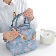 Túi vải giữ nhiệt tiện dụng dùng đựng cơm và thức ăn (có lớp giấy bạc cách nhiệt) thumbnail