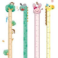 Thước đo chiều cao dán tường CAO CẤP chất liệu nhựa dẻo PP kèm bút và nút đính bút - khủng long thumbnail
