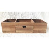 Hộp bút để bàn kiểu dáng hiện đại sang trọng được làm bằng gỗ cao cấp giúp trang trí, cất giữ vật dụng làm bàn làm việc, bàn học luôn được ngăn nắp thumbnail
