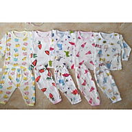 combo 5 Bộ cotton giấy dài tay cho bé sơ sinh cài vai chất đẹp thoáng mát thumbnail