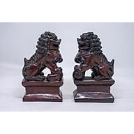 Cặp tượng Kỳ Lân ngồi bằng đá thumbnail