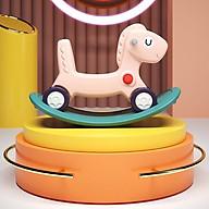 Ngựa bập bênh có bánh xe cao cấp thumbnail