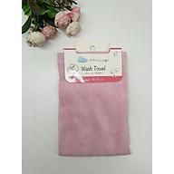 Khăn mặt mềm mịn 100% cotton màu hồng nội địa Nhật Bản thumbnail