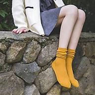 Tất nữ cổ cao len gân dày dặn phong cách cổ điển nhẹ nhàng TN18 thumbnail