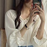 Áo sơ mi nữ T-mon vải voan tay lòe thoáng mát dành cho các nàng đi chơi đi làm dự tiệc thumbnail