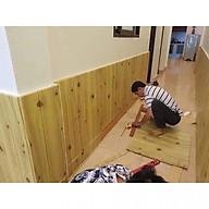 Bộ 10 tấm Xốp dán tường 3D giả gỗ thumbnail