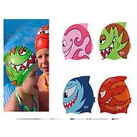 Mũ Nón bơi trẻ em cao cấp Silicon dẻo , chống nước , chóng UV , mềm mại thoải mái khi đeo - Họa tiết hoạt hình ngộ nghĩnh thumbnail