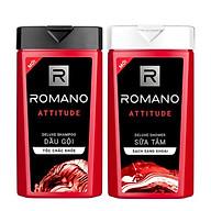 Combo Dầu gội và Sữa tắm cao cấp Romano Attitude 380g chai thumbnail