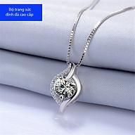 Dây Chuyền Nữ Bạc Đính Đá Diamond Cao Cấp - Vòng Cổ Nữ S925 Họa Tiết Sang Chảnh, Quý Phái thumbnail