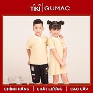 Áo thun cho bé trai phối màu cổ bẻ GUMAC AKA514 thumbnail