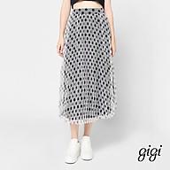 GIGI - Chân váy midi hai lớp xếp li Blue Star G3302202521H-90 thumbnail
