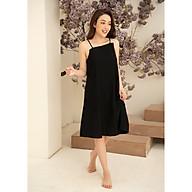 Váy đầm ngủ đồ mặc nhà nữ Freedy 2 dây đũi đen lệch chéo cách điệu thumbnail