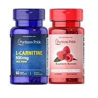 Combo giảm cân TỰ NHIÊN Raspberry ketone& L-carnitine cho cơ địa khó giảm thumbnail