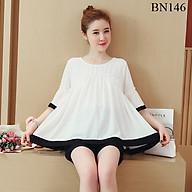Bộ mặc bầu và sau sinh điệu đà màu trắng phối đen hàng cao cấp BN146 thumbnail