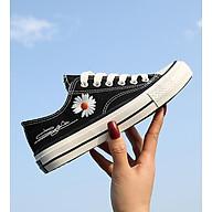 Giày thể thao nữ cổ thấp CV Cúc Họa Mi thời trang V230 - Đen - Size 35 thumbnail