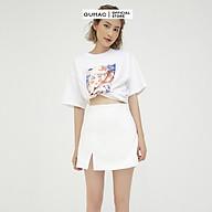 Áo thun nữ in hình cô gái, trẻ trung năng động GUMAC ATB549 thumbnail