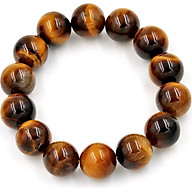 Vòng đeo tay chuỗi hạt đá mắt hổ 14 ly - Sản phẩm đá phong thủy - Kích thước phù hợp cho nam thumbnail