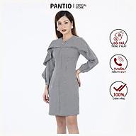 Đầm công sở chất liệu dạ len dáng suông dài tay FDC92895 - PANTIO thumbnail