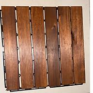 Tấm Lót Sàn Nhựa Ban Công GỗTự Nhiên 6 Nan (30x30x2.5cm) - Sàn gỗ vỉ nhựa ban công tiêu chuẩn thumbnail