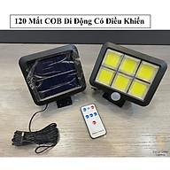 Đèn năng lượng mặt trời 120 Led Có cảm biến chuyển động Tặng kèm 1 điều khiển từ xa Remove thumbnail