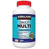 Vitamin Tổng Hợp Multivitamin Kirkland 500 Viên cho người dưới 50 tuổi, bổ sung vitamin khoáng chất cho cả nam va nữ, tăng cường hệ miễn dịch, sáng mắt, giảm căng thẳng mệt mỏi thumbnail