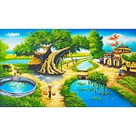 Tranh dán treo tường phong cảnh làng quê - Làng tôi MLQ-003 ( chưa gồm khung) thumbnail