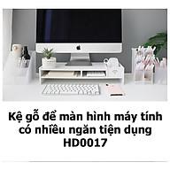 Kệ gỗ để màn hình máy tính có nhiều ngăn tiện dụng HD00017 thumbnail