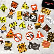Bộ 50 Sticker (nhãn dán) ICON BIỂN BÁO - dán nón bảo hiểm, ghi-ta, tủ lạnh, máy tính - siêu chất, cool ngầu, dễ thương. thumbnail