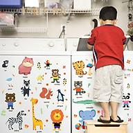 Decal dán tường trang trí phòng ngủ, lớp mầm non- Thú tiếng anh siêu ngộ nghĩnh- mã sp DHM92025 thumbnail