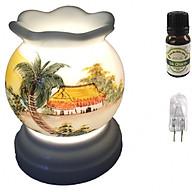 Combo tinh dầu sả chanh Eco oil 10ml cùng đèn xông tinh dầu MNB20 và 1 bóng đèn thumbnail
