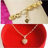 (Quá đẹp) Combo vòng cổ + lắc tay mạ vàng 24K giá siêu rẻ (kèm ảnh thật) thumbnail