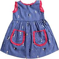 Đầm Hai Túi Hở Lưng Cổ Nơ Cổ Hai Thỏ Trắng Đen T122011 thumbnail