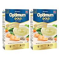 COMBO 2 HỘP BỘT ĂN DẶM OPTIMUM GOLD YẾN MẠCH CÁ HỒI RAU XANH HỘP GIẤY 200G thumbnail