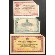 Combo 3 loại công trái xây dựng tổ quốc, 100 đồng, 500 đồng và 1000 đồng thumbnail